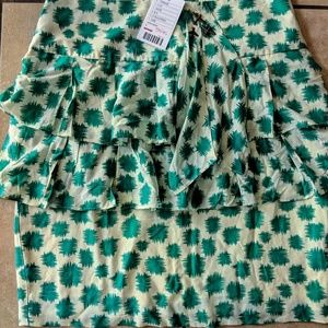 New edme & esyllte ruffle front pencil skirt